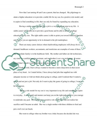 Expository Essay: Why I am attending College essay example