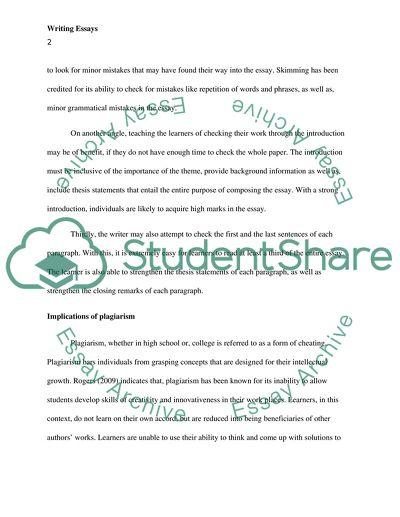 writing an essay steps