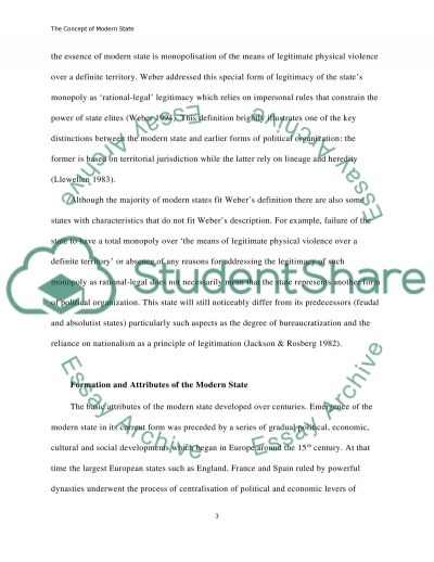 The Concept of Modern State essay example