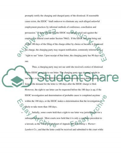 Employment Laq essay example