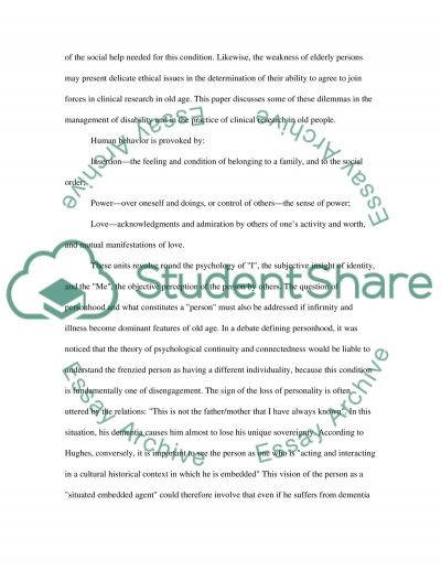 Ethics Issues in Elderly Care essay example