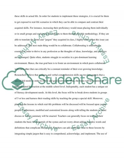 End of Year Academic Goal essay example