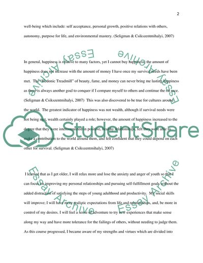 Organizational psychology admissions essay