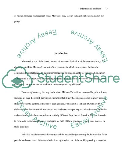 International Business Essay Example  Topics And Well Written  International Business  Essay Example