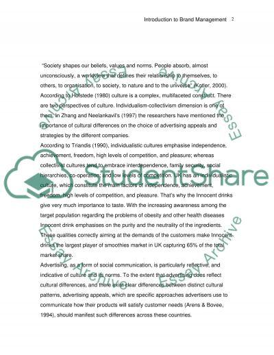 Innocent LTD essay example