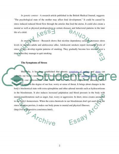 Stress College Essay essay example