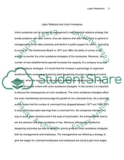 Labor Relations Bachelor Essay