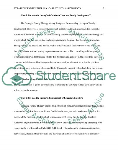 Strategic Family Therapy Essay Example Topics And Well Written