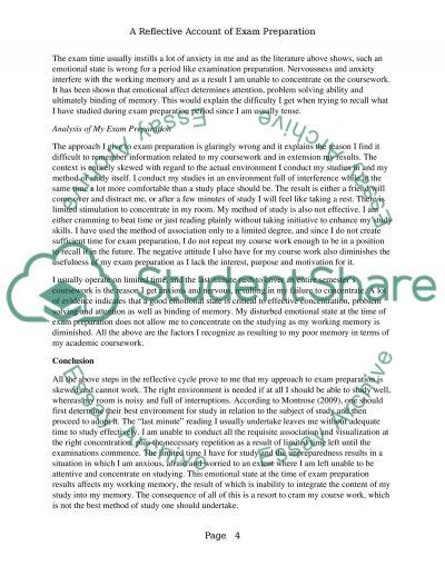 Reflective account essay nursing