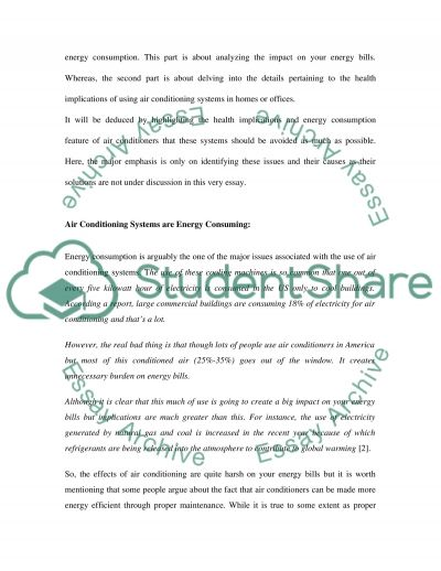 Air Conditioning Systems essay example