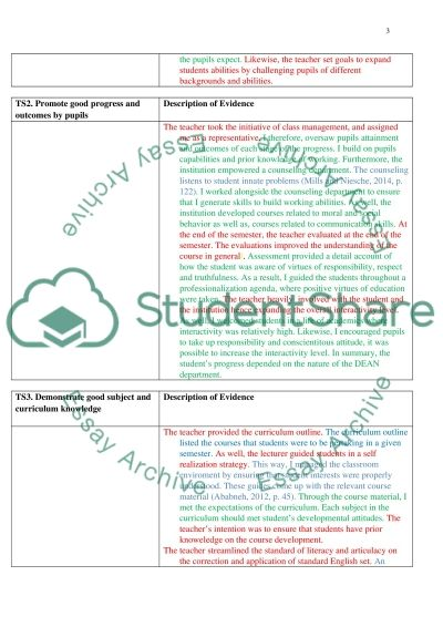 A ritical Analysis of UK Teaching Standard essay example