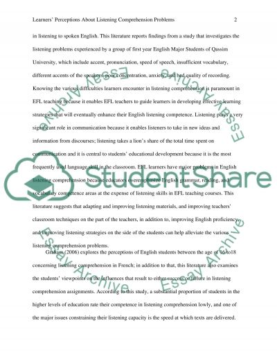 Learners perceptions about listening comprehension problems, strategies and teachers solutions to improve students list