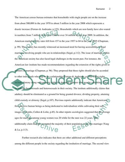 Culture and Marriage Research Paper
