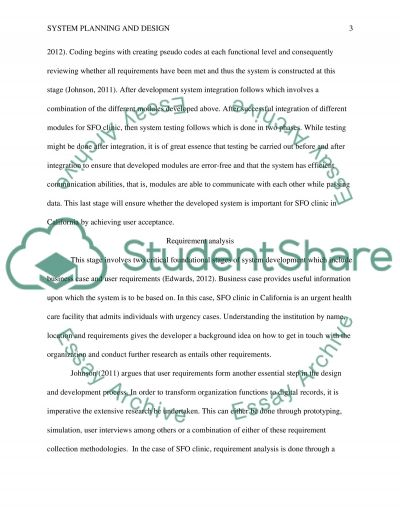 System Planning and Design essay example