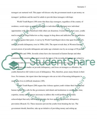 Teenager problems essay example