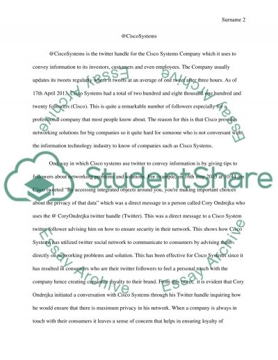 Public relations: Social Media (Twitter) Assignment example