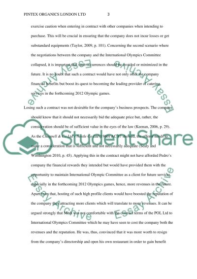 Pintex Organics London Ltd essay example