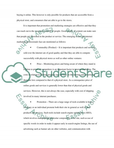 Personal Experience of Marketing Management in the 21st Century and Emerging Issues essay example