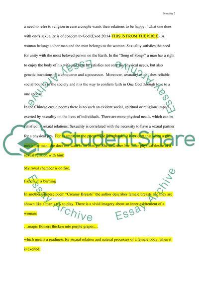 Sexuality In Literature Essay Example  Topics And Well Written  Sexuality In Literature