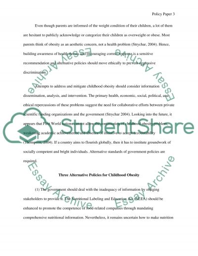 Public Health Policies essay example