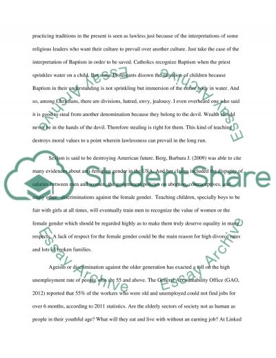 Diversity, Equity, and Social Justice essay example