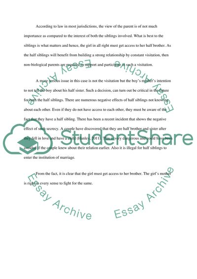 Family Law Essay Example | Topics and Well Written Essays