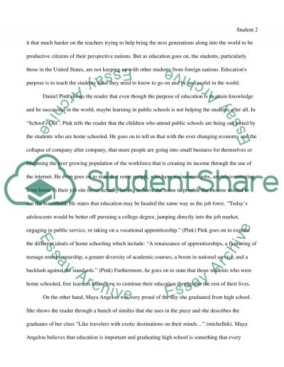 What is Educations Purpose essay example