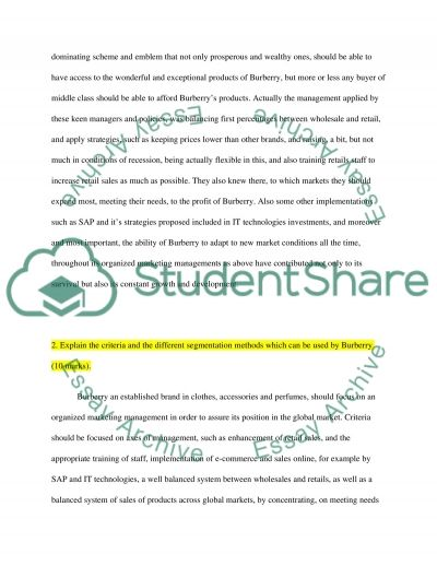 Burberry Case Study Essay example