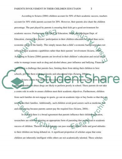 Parents Involvement in Their Children Education