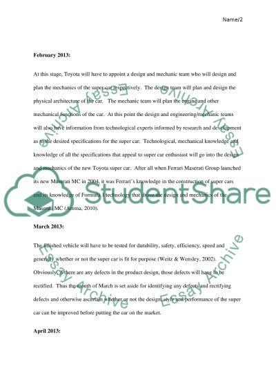 Toyota Motor Company Marketing Plan essay example