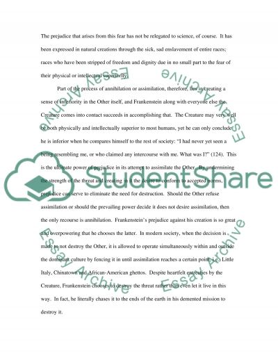 frankenstein ethos essay example Appeals to ethos for example, grose notes that when men do housework, they are though grose begins the essay by effectively persuading her readers of the rhetorical analysis sample essay author: avery.