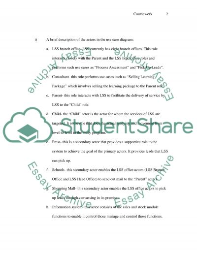 Learning Support System Assignment example
