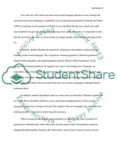 Take home exam 1 essay example