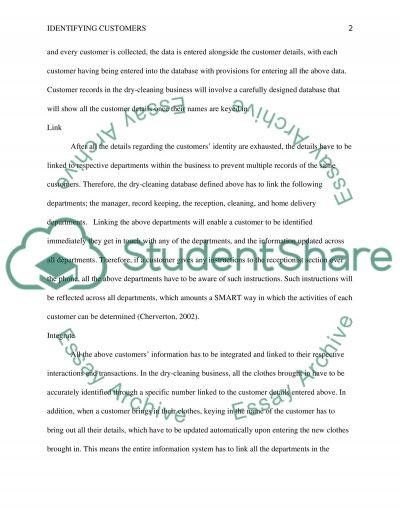 HOW TO IDENTIFY CUSTOMERS essay example