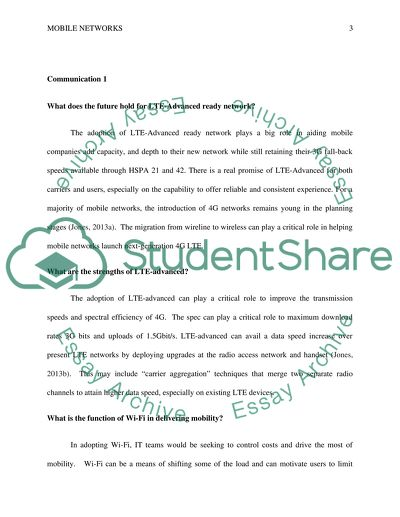 Mobile Communication 1 And 2 Essay Example Topics And Well Written