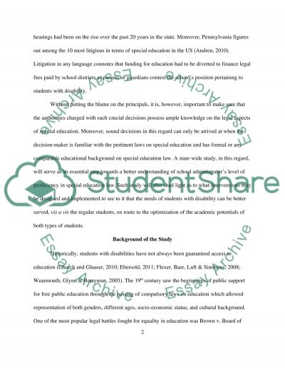 Building level principals knowledge of special education law essay example