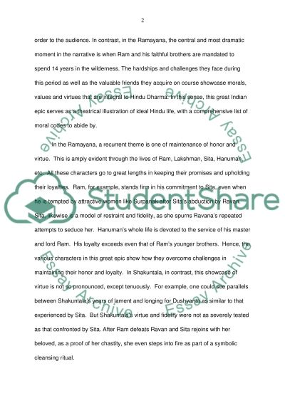 ra ana and shakuntala a comparison essay example topics and  ra ana and shakuntala a comparison essay example