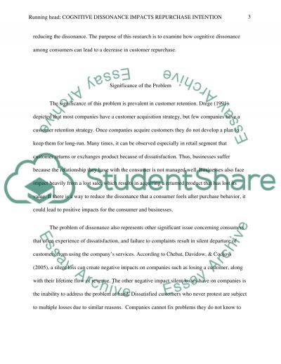 Cognitive Dissonance Impacts Repurchase Intention essay example