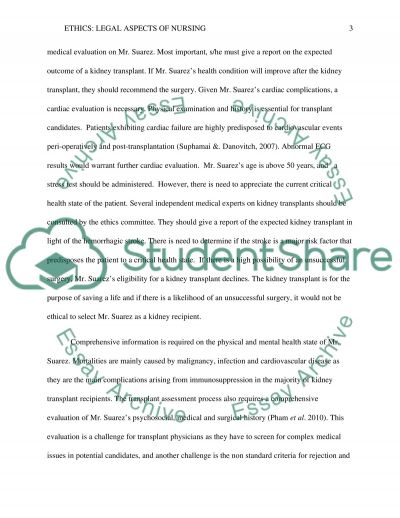 LEGAL ASPECT OF NURSING essay example