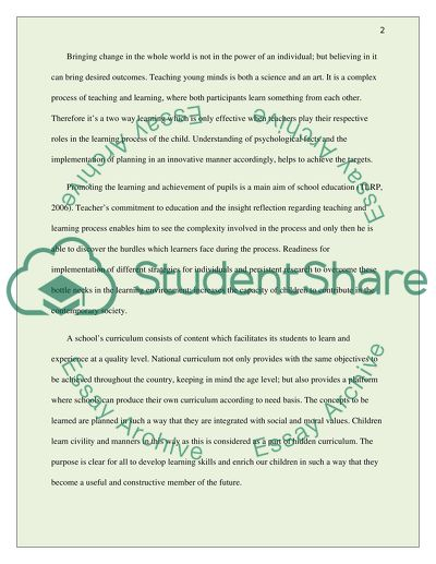 Effective Teaching and Learning in the Primary School