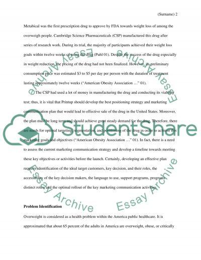 Marketing Plan: The Cambridge Science Pharmaceutical (CSP) essay example