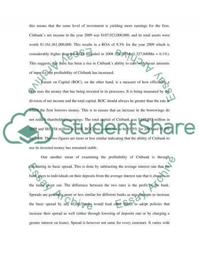 Bank analysis paper-Economics essay example