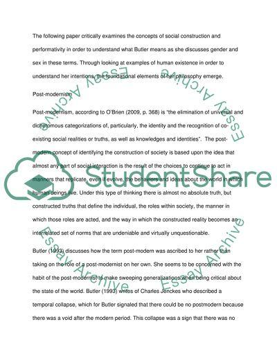 judith butler essay