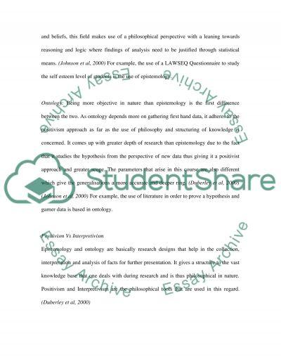 Positivism and Interpretivism essay example