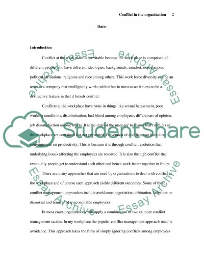Conflict Management Styles essay example