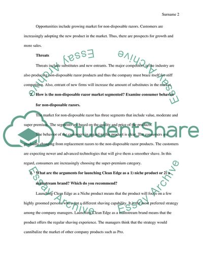Clean Edge Case Study Example | Topics and Well Written Essays - 500