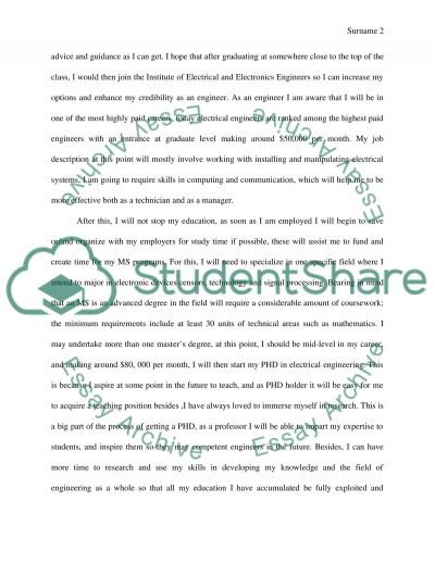 Electrical engineering essay example
