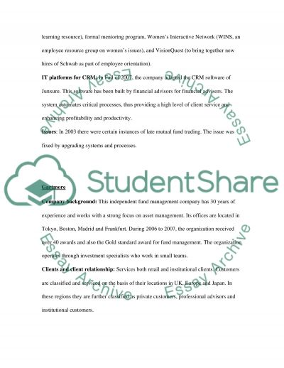 Competitor Analysis essay example