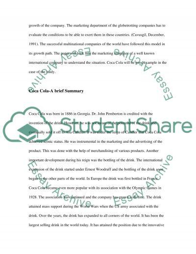 International Business (MaArketing ORHuman Resource Management) strategy of an International Firm essay example