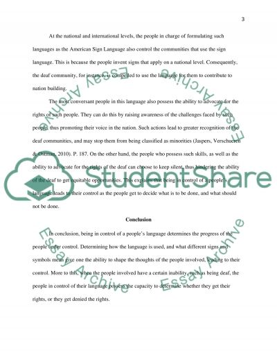 Control a Peoples Language essay example